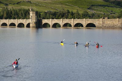Kayaking on Scar Reservoir